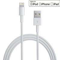 Cablu iPhone si iPad lightning USB compatibil cu modelele 5,6,7,8,X,XR,XS,11,SE,12 (C/S/PRO/PLUS/MAX)- transfer date si incarcare rapida, culoare alba