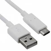 Cablu de transfer date USB - USB Type-C (culoare alba)