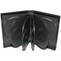 Carcasa 10 DVD neagra 33mm