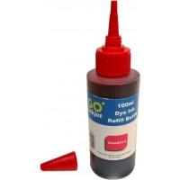 Cerneala compatibila Epson rosie (magenta) sticla 100ml, tip DYE
