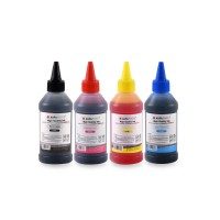 Set de 4 culori cerneala Canon Agfa Photo in flacoane de cate 100ml cu capac picurator- black cyan magenta yellow (negru albastru rosu galben)