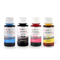 Set de 4 culori cerneala Canon Agfa Photo in flacoane de cate 100ml cu capac normal- black cyan magenta yellow (negru albastru rosu galben)
