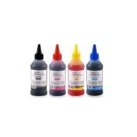 Set de 4 culori cerneala Epson Agfa Photo in flacoane de cate 100ml cu capac picurator- black cyan magenta yellow (negru albastru rosu galben)