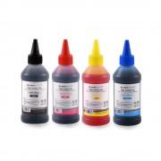 Set de 4 culori cerneala HP Agfa Photo in flacoane de cate 100ml cu capac picurator- black cyan magenta yellow (negru albastru rosu galben)