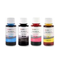 Set de 4 culori cerneala HP Agfa Photo in flacoane de cate 100ml cu capac normal- black cyan magenta yellow (negru albastru rosu galben)