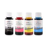 Cerneala universala Agfa Photo - set 4 culori in sticlute de 100ml cu capac normal- black cyan magenta yellow (negru albastru rosu galben)
