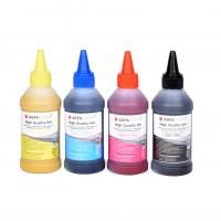 Set de 4 culori cerneala de SUBLIMARE Agfa Photo in flacoane de cate 100ml - black cyan magenta yellow (negru albastru rosu galben)