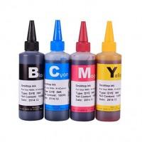 Set de 4 culori cerneala compatibila Brother sticlute 100ml - black cyan magenta yellow (negru albastru rosu galben)