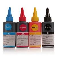 Set de 4 culori cerneala compatibila Lexmark sticlute 100ml - black cyan magenta yellow (negru albastru rosu galben)