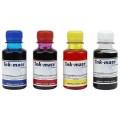 Set de 4 culori cerneala compatibila Epson sticlute 100ml - black cyan magenta yellow (negru albastru rosu galben)