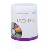 DVD+R 4.7GB MEMOREX 100 cake box 16x