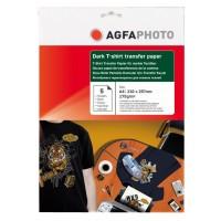 Hartie pentru transfer termic pe tricouri negre AGFA format A4 175g/mp - pachet 5 coli