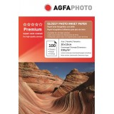 Hartie foto 4R (10 x 15) lucioasa 210g Agfa- pachet 100 de coli