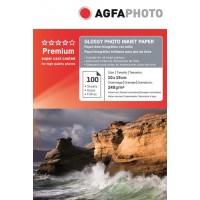 Hartie foto 4R (10 x 15) lucioasa 240g Agfa- pachet 100 de coli