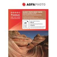 Hartie foto lucioasa AGFA format A4 210g/mp - pachet 20 coli