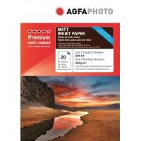 Hartie foto mata Agfa A4 fata-verso (double sided) 220 g / mp - pachet de 20 de coli