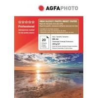 Hartie foto lucioasa RC (Resin-coated)  Agfa A4 260 g/mp