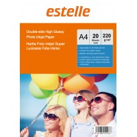 Hartie foto super lucioasa A4 fata-verso (double sided) 220 g / mp - pachet de 20 de coli
