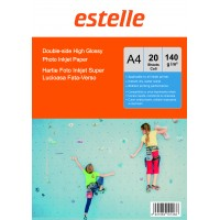 Hartie foto super lucioasa A4 fata-verso (double sided) 140 g / mp - pachet de 20 de coli