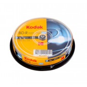 BD-R 25 GB Kodak printabil inkjet GLOSSY full surface 6x in cakebox de 10 discuri recordabile