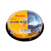 BD-R 25 GB Kodak printabil inkjet full surface 6x in cakebox de 10 discuri recordabile