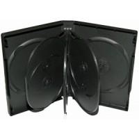 Carcasa 8 DVD neagra 27mm