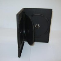 Carcasa 3 DVD neagra 14mm