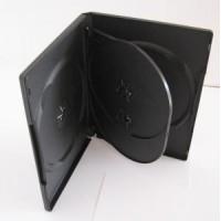 Carcasa 4 DVD neagra 14mm