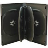 Carcasa 6 DVD neagra 22mm