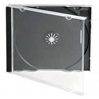 Carcasa CD normala 10.4mm cu tavita neagra si fata transparenta jewel case