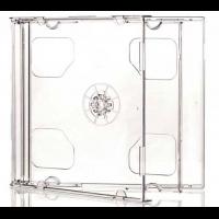 Carcasa CD dubla 10.4mm cu tavita transparenta si fata transparenta tip jewel case