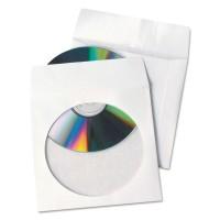 Plicuri albe CD din hartie cu fereastra