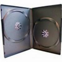 Carcasa dubla DVD neagra 14mm