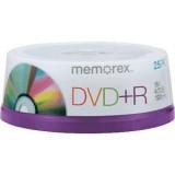 DVD+R 4.7GB MEMOREX 25 cake box
