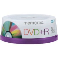 DVD+R 4.7GB MEMOREX 10 cake box