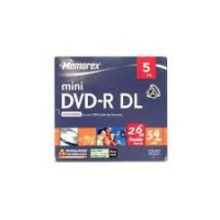 mini DVD-R 2.6GB dual layer 8cm 4x MEMOREX cu carcasa