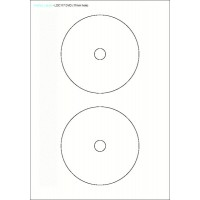 Etichete pentru CD - autocolante (autoadezive) 117mm-120mm)